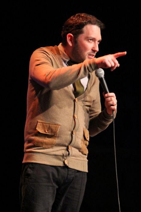 Jon Richardson on stage in Lerwick on Saturday. Photo: Davie Gardner