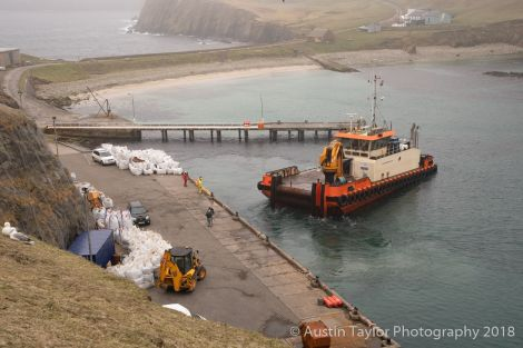 Shipments have arrived in Fair Isle from Orkney. Photo: Austin Taylor