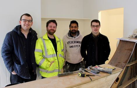 The team behind The String, from left to right: Matthew Adam, Magnus Stout, Akshay Borges and Neil Riddell. Photos: Chris Cope/Shetland News