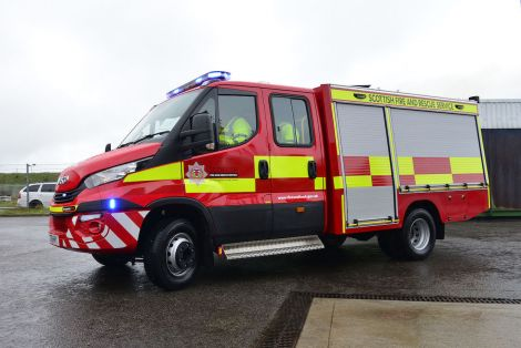 The new fire engine with the Conduct equipment on board. Photo: SFRS