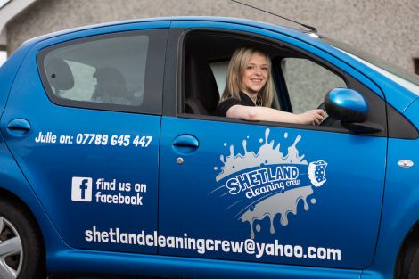 Julie Leith started The Shetland Cleaning Crew with the help of Business Gateway earlier this year.