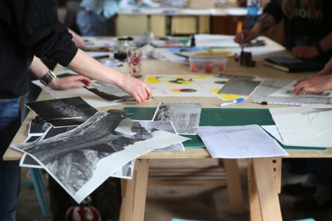 Creativity in full flow at GAADA's first risograph printmaking workshop earlier this month.