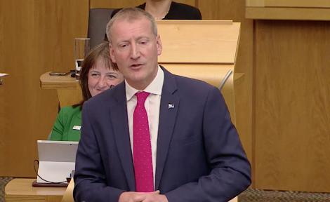 Tavish Scott in parliament on Wednesday. Image: Scottish Parliament