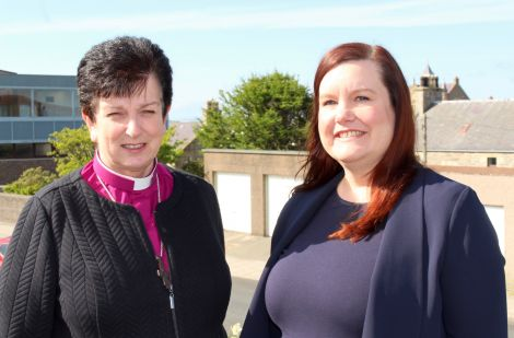 Rt Rev Anne Dyer (left) and Maggie Sandison.