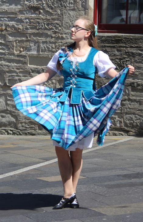 Visitors were treated to some Scottish highland dancing courtesy of Molly Williams. Photo: Hans J Marter/Shetland News