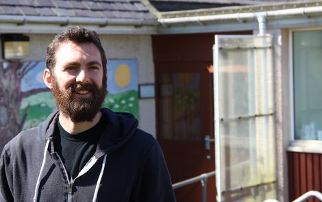 Valhalla Brewery owner Alistair Morgan outside his new premises at Voe. Photo: Hans J Marter/Shetland News