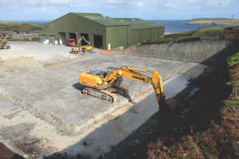 The work which has already been undertaken at the Gremista Waste Management Facility. Photo: SIC