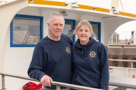 Brian Leask and Marie Fullerton of local tour operator Seabirds and Seals is winning more business following the free Digital Health Check. Photo: Business Gateway Shetland
