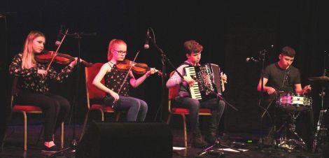 Fjanna are (left to right): Anya Johnston (15) Jodie Smith (15), Mike Laurenson (15) and Arran Philip (17).
