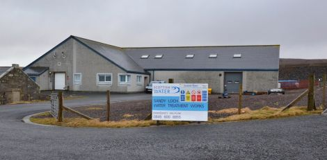 The water treatment works at Sandy Loch. Photo: Shetland News