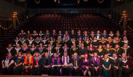A group picture of the HE graduates. Photo: Ben Mullay