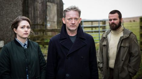 Alison O'Donnell, Douglas Henshall and Stephen Walters. Photo: BBC
