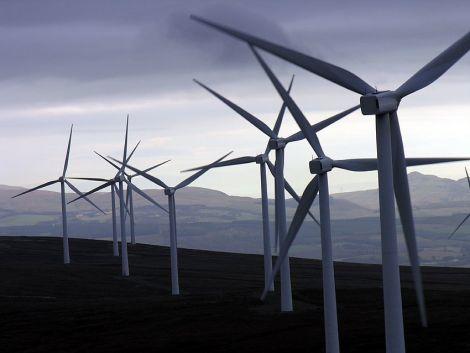 Wind farm in Shetland