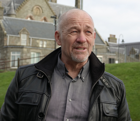 Tam Baillie in Lerwick on Wednesday. Photo: Peter Johnson/Shetland News.